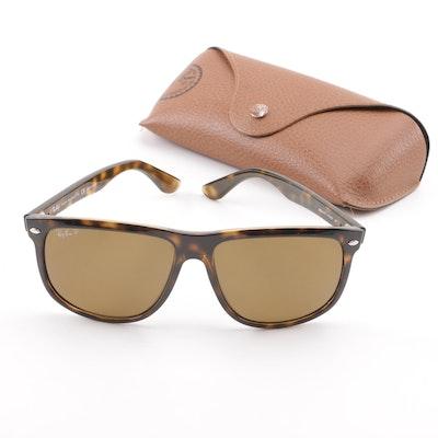 41e8bac549e Ray-Ban RB 4147 Tortoiseshell Style Polarized Sunglasses with Case