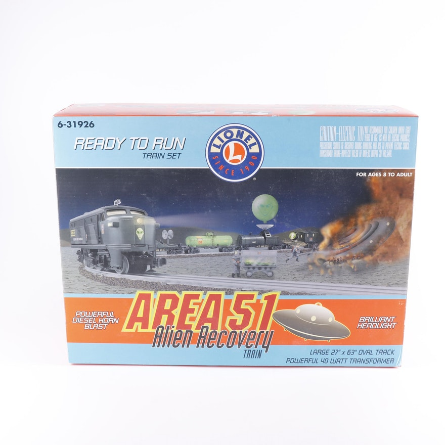 Lionel Area 51 Alien Recovery Train Set
