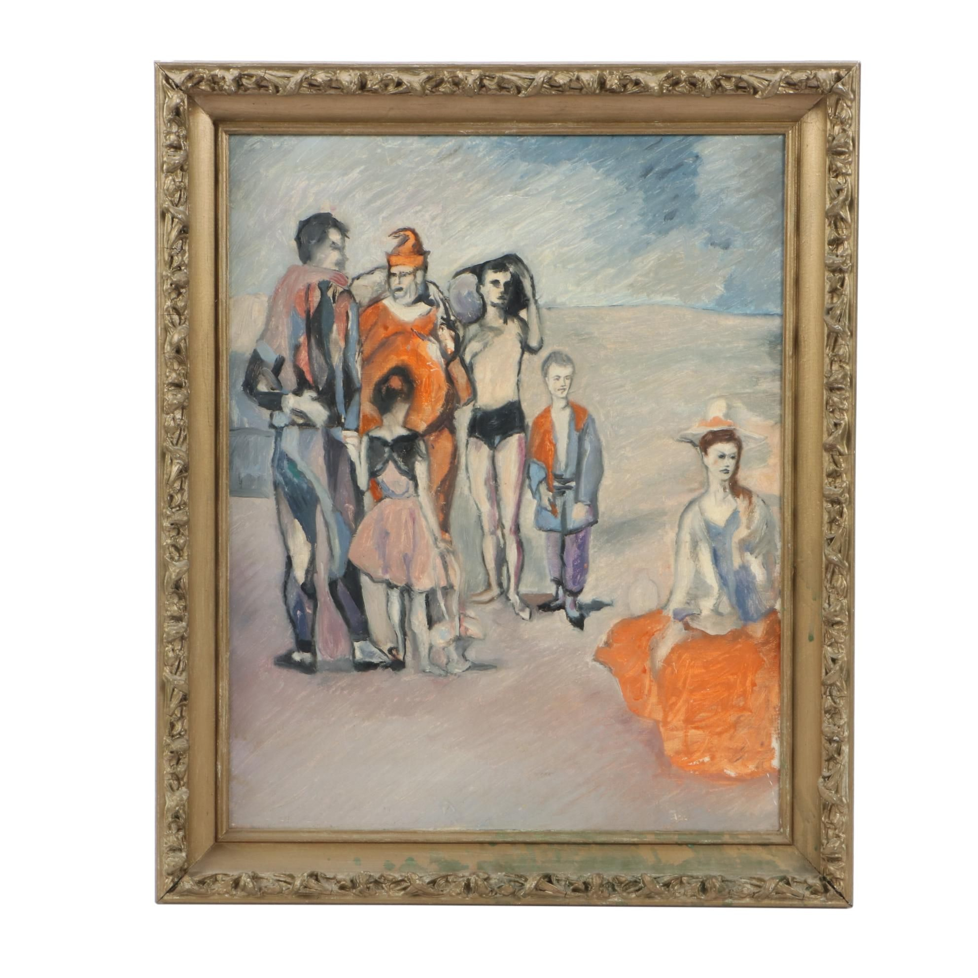 Vintage Oil Copy Painting After Pablo PIcasso