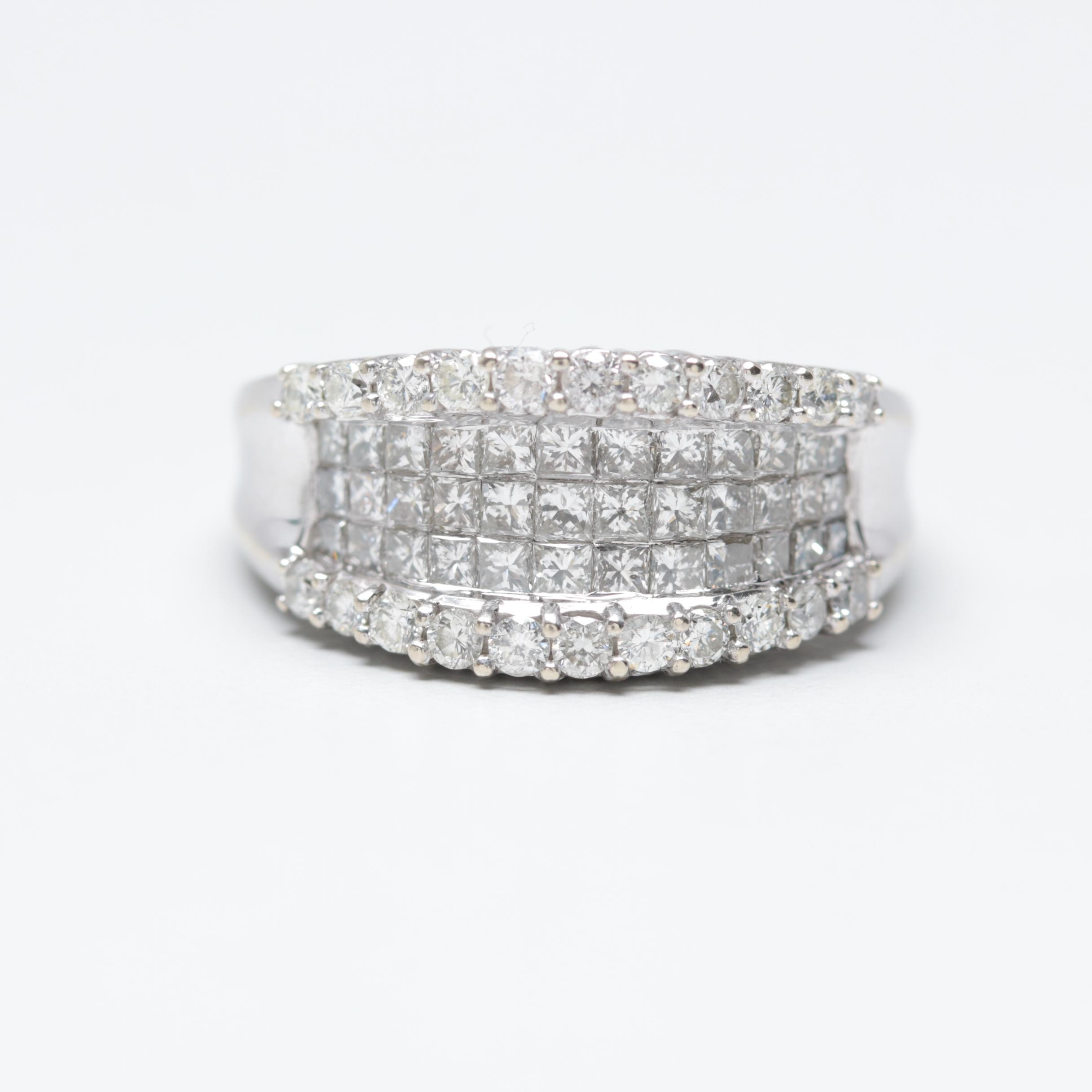 14K White Gold 2.08 CTW Diamond Ring