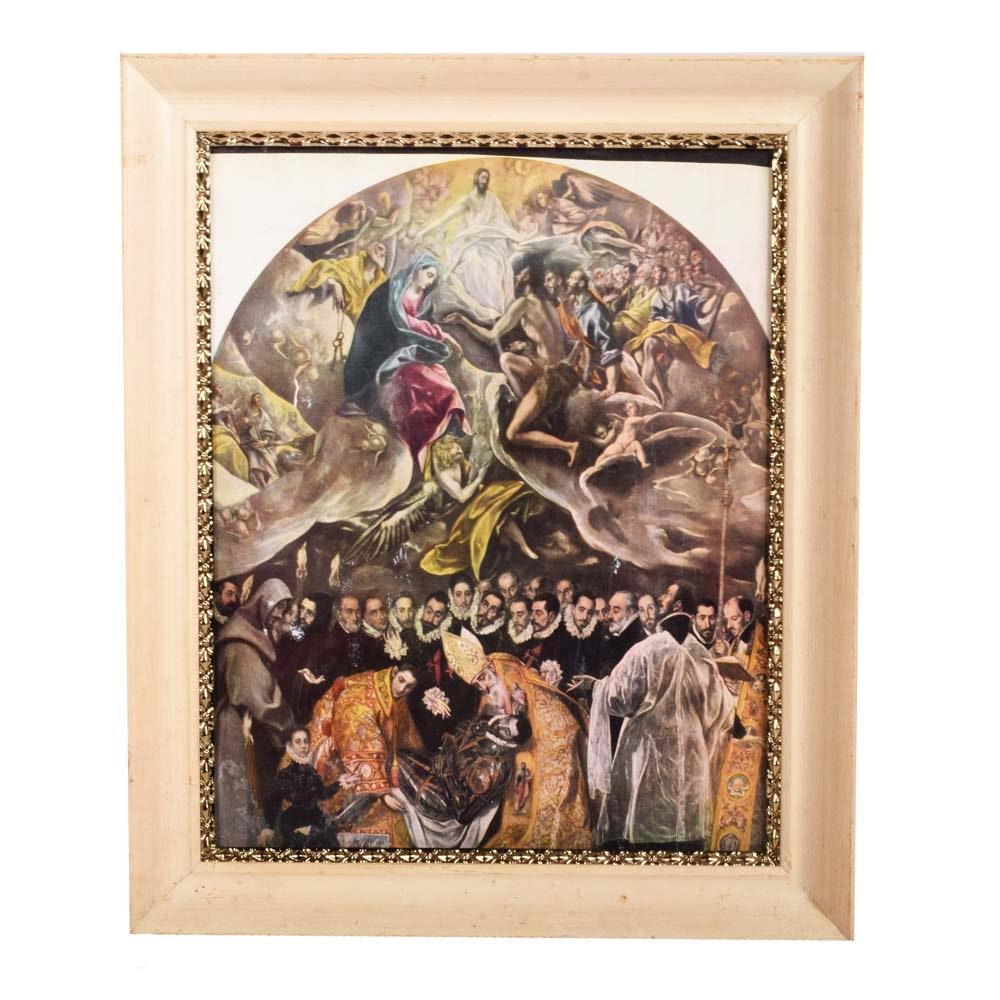 Framed Religious Offset Lithograph