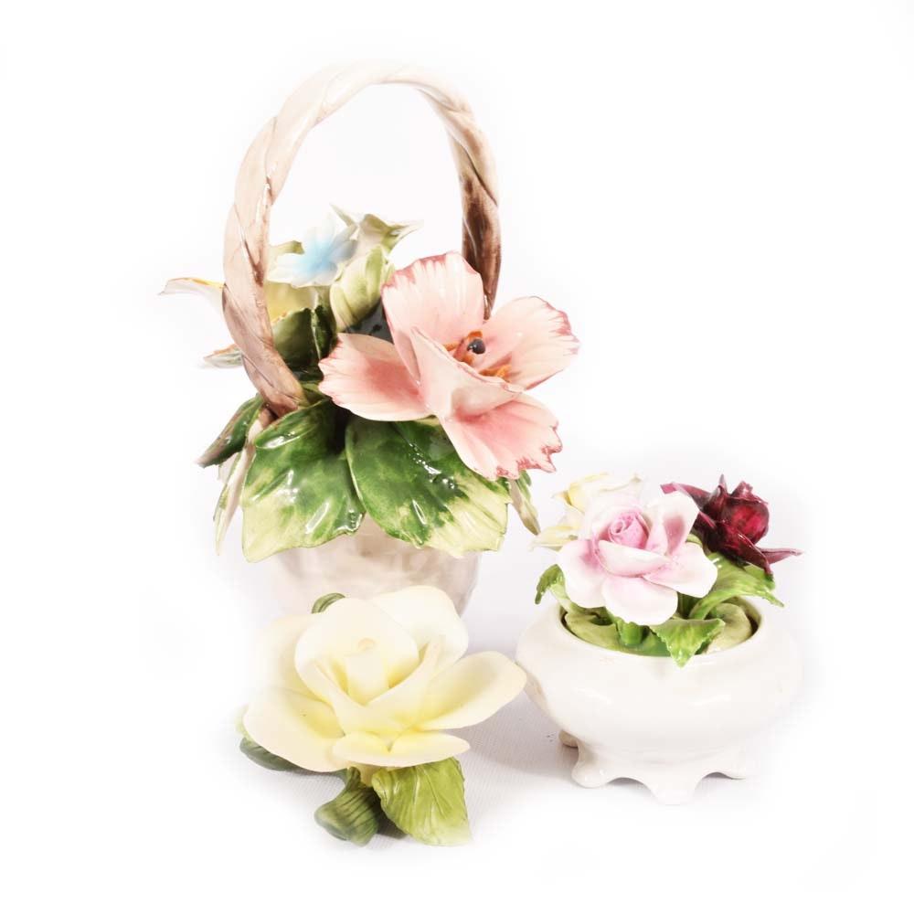 Floral Figurines Featuring Giuseppe Armani Capodamonte