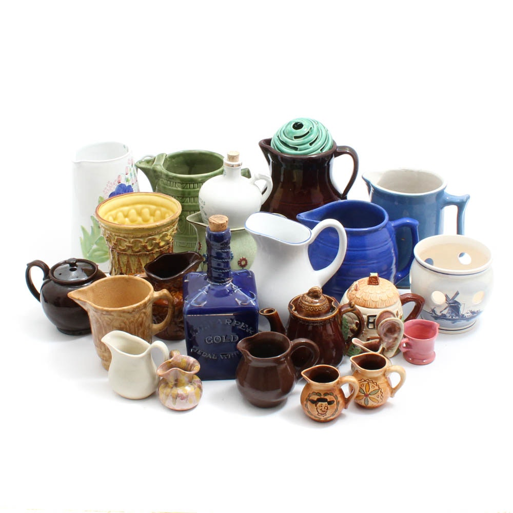 Vintage Weller, Delft, and More Ceramics and Stoneware