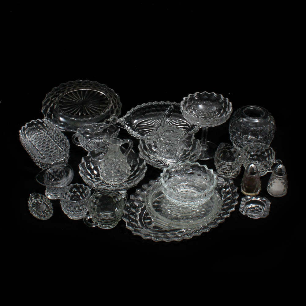 "Vintage Fostoria ""American"" and Colony ""Whitehall"" Glass Serveware"
