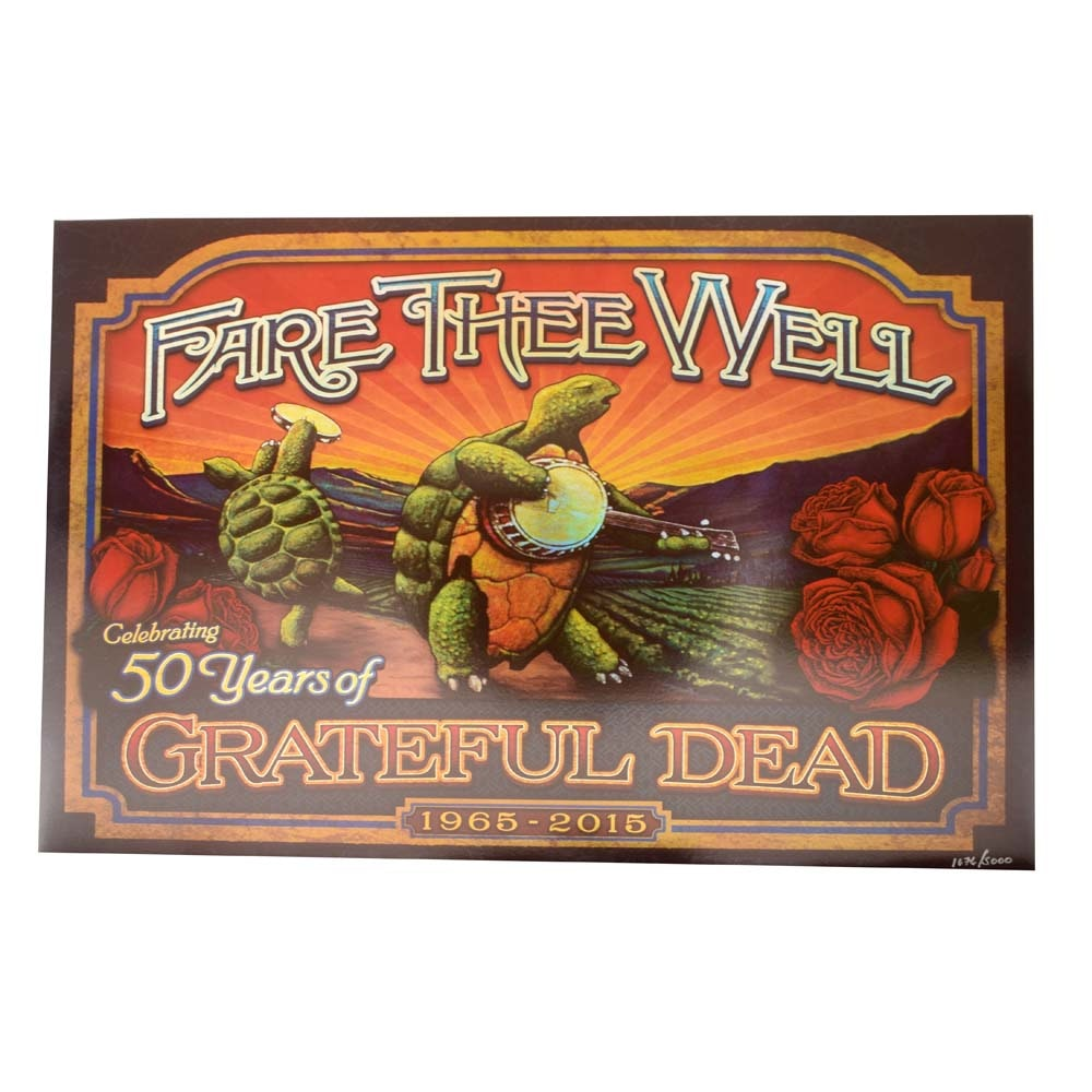 "Ltd. Ed. Holographic Foil ""Fare the Well"" Grateful Dead Poster"