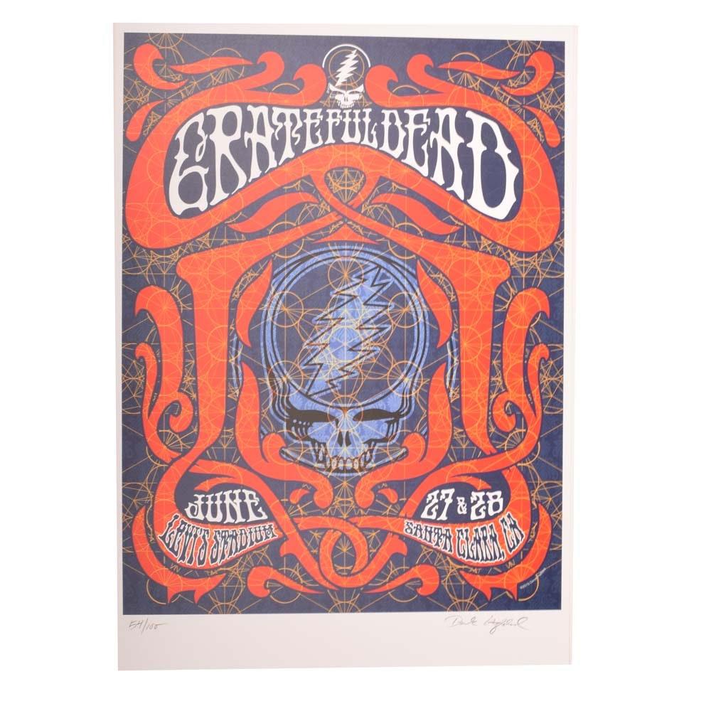 2015 Ltd. Ed. Grateful Dead Santa Clara Concert Poster