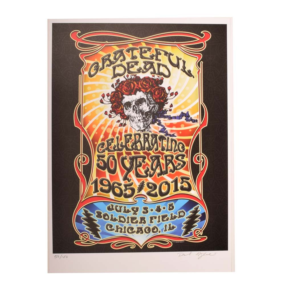 Ltd. Ed. Derek Hatfield 50th Anniversary Grateful Dead Chicago Concert Poster