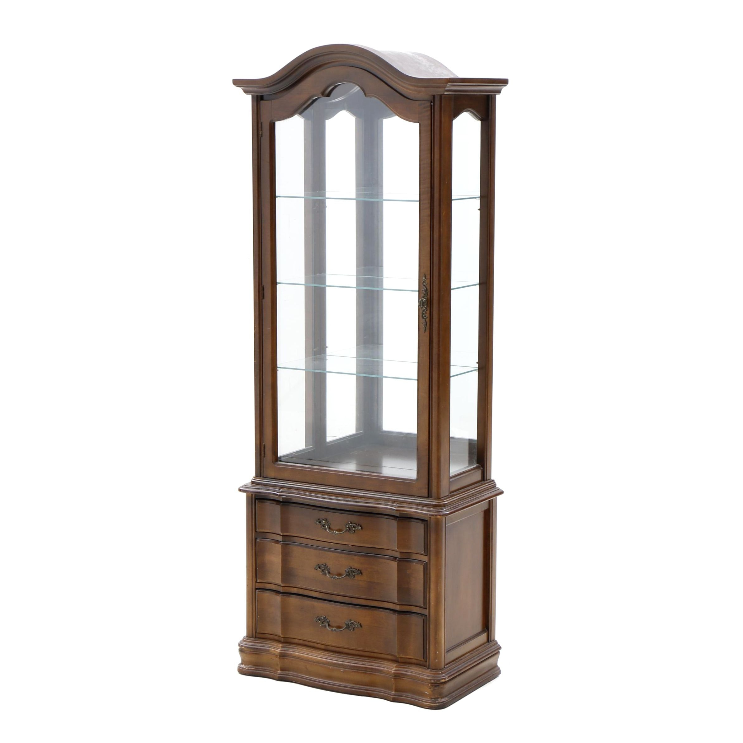 French Country Style Curio Cabinet