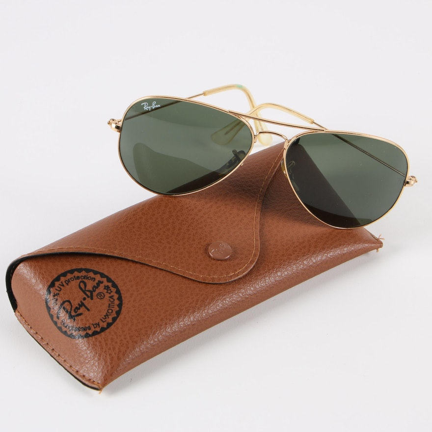 5194d07569 Vintage Ray-Ban RB 3025 Aviator Sunglasses with Case   EBTH