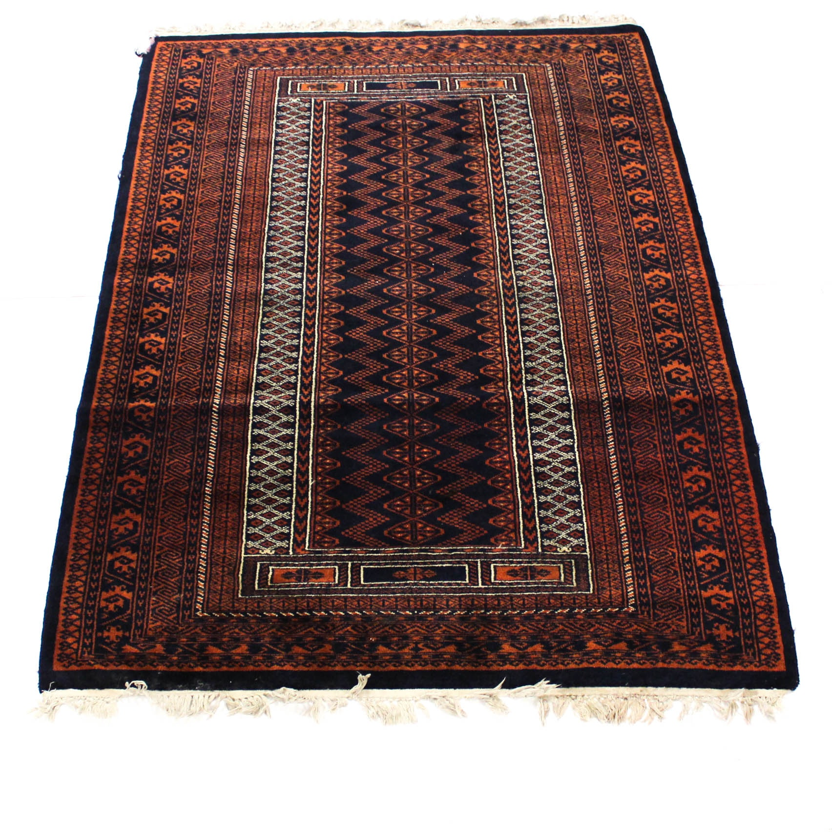 Semi-Antique Finely Hand-Knotted Afghani Baluch Rug