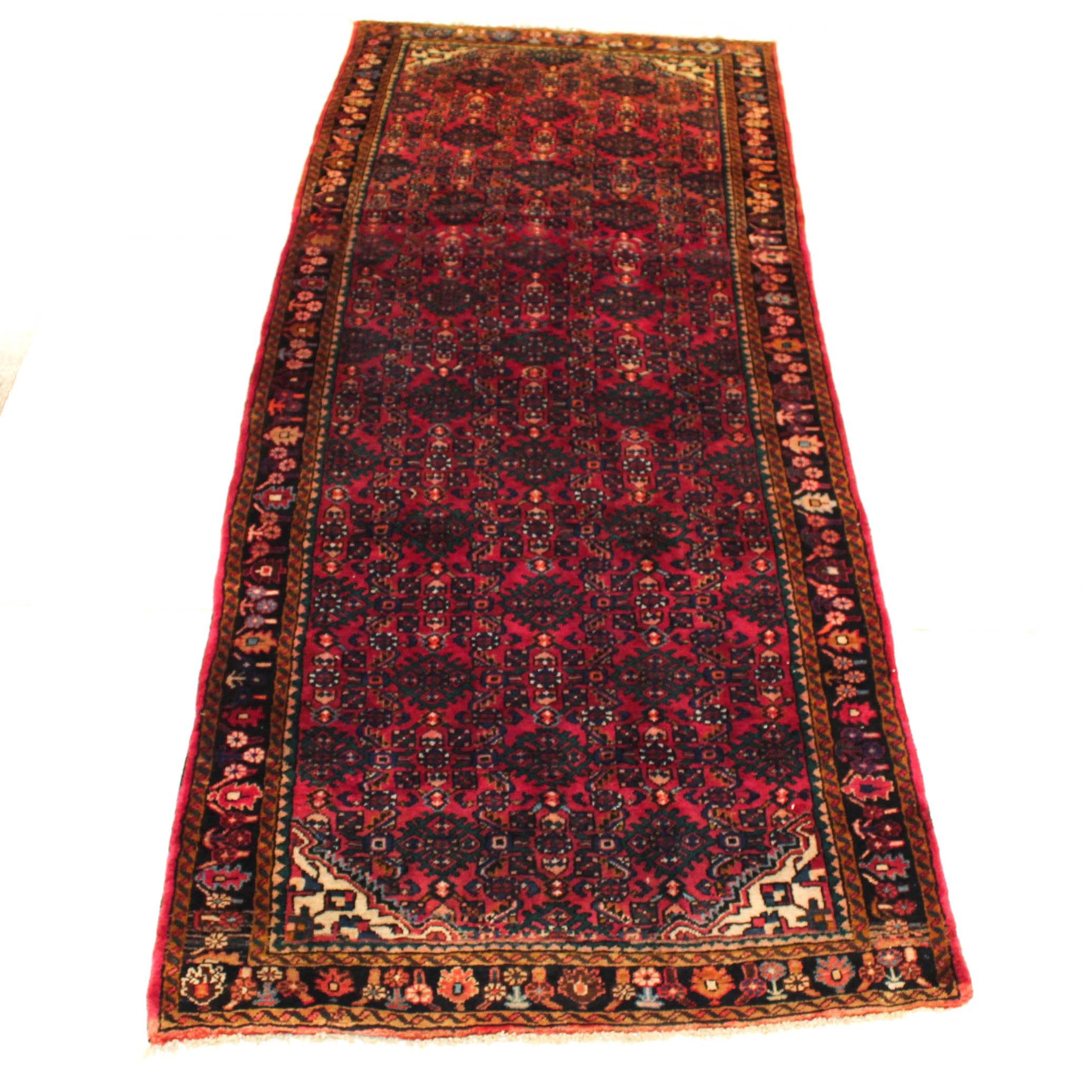 Vintage Hand-Knotted Persian Lilihan Sarouk Rug