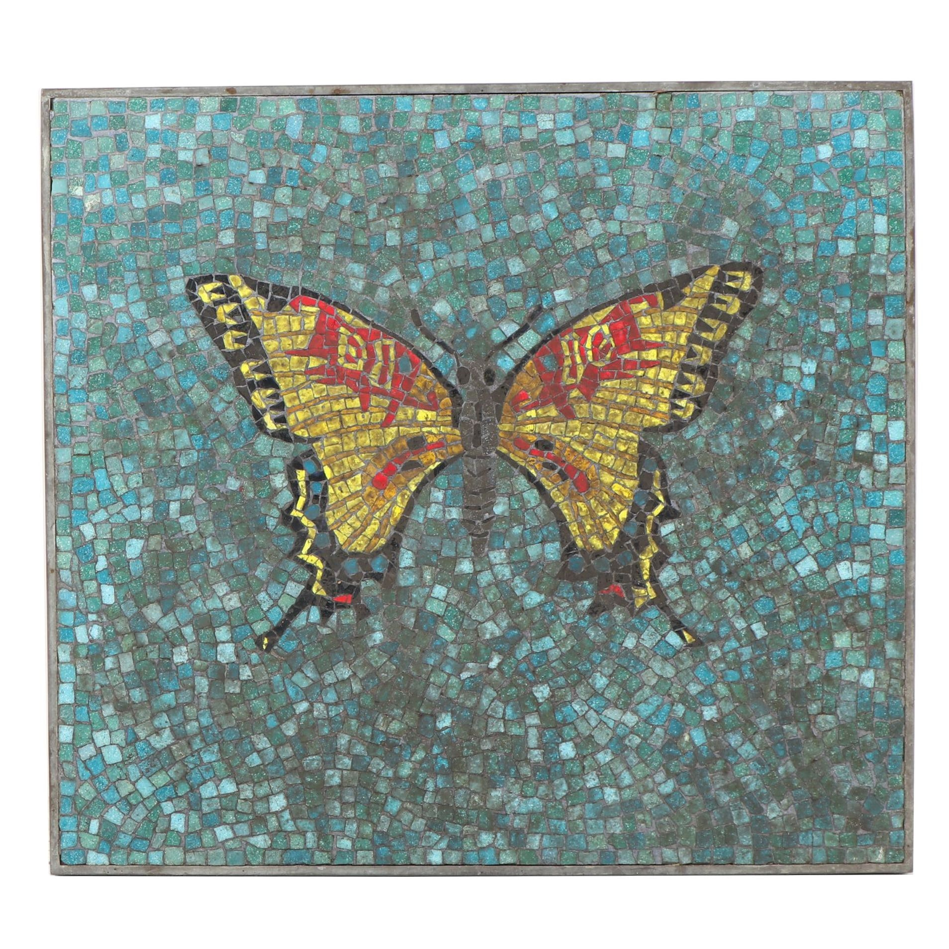 Mid-Century Mosaic of Butterfly