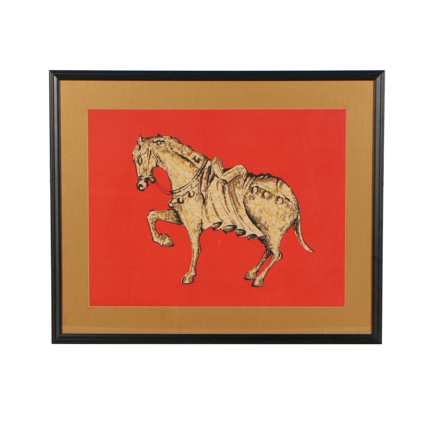 "Taiwanese Batik ""Fancy Horse"""