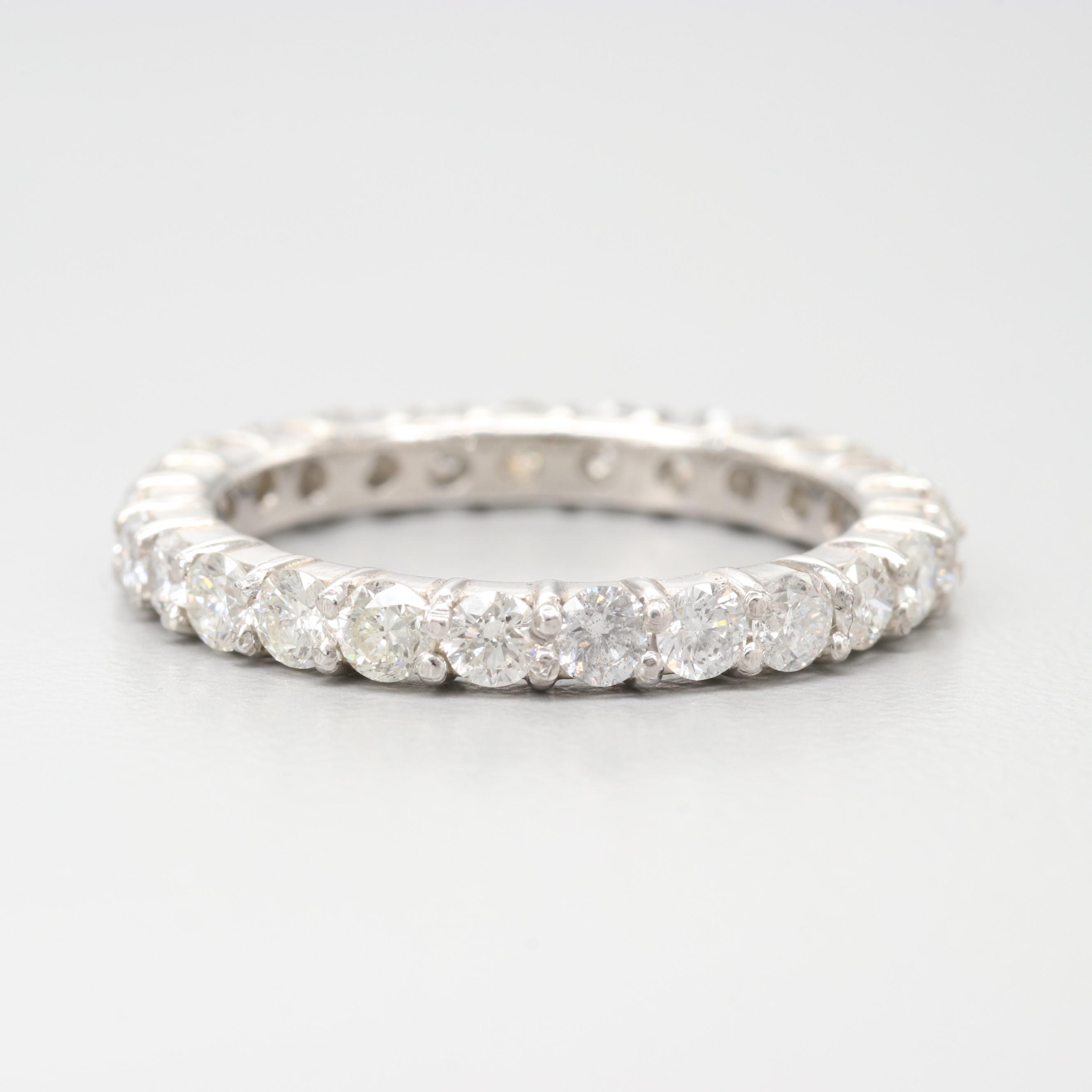 Platinum 1.50 CTW Diamond Eternity Ring