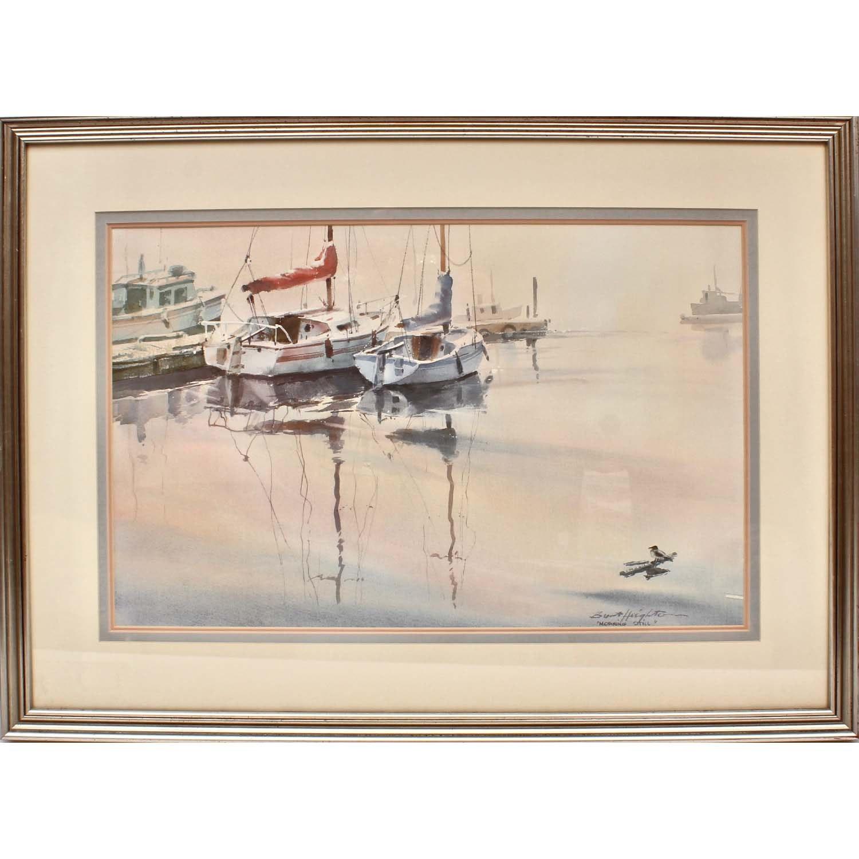 """Brent Heighton Original Signed Watercolor """"Morning Still"""""""