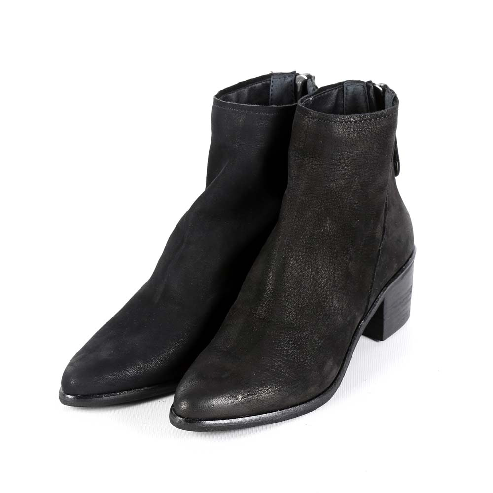 Dolce Vita Cassius Black Nubuck Leather Booties