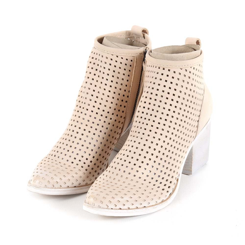 Dolce Vita Kenyon Sand Perforated Nubuck Booties