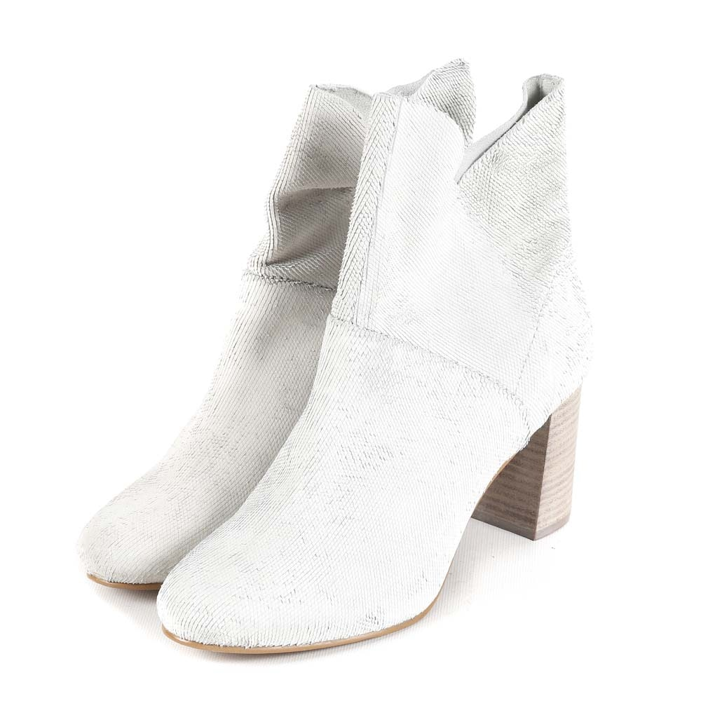 Seychelles Prop Off-White Leather Booties