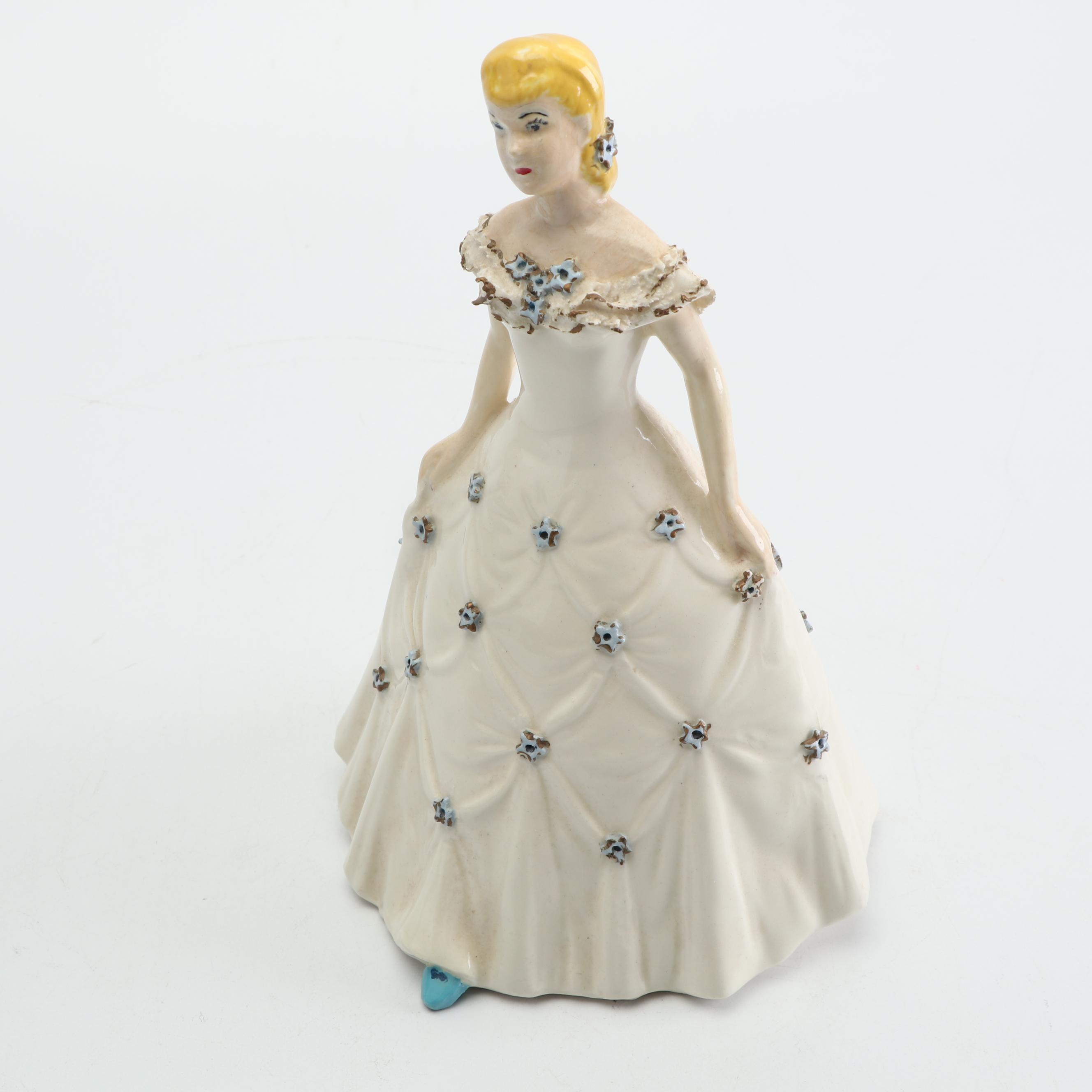 Vintage Hobbyist Hand-Painted Ceramic Figurine