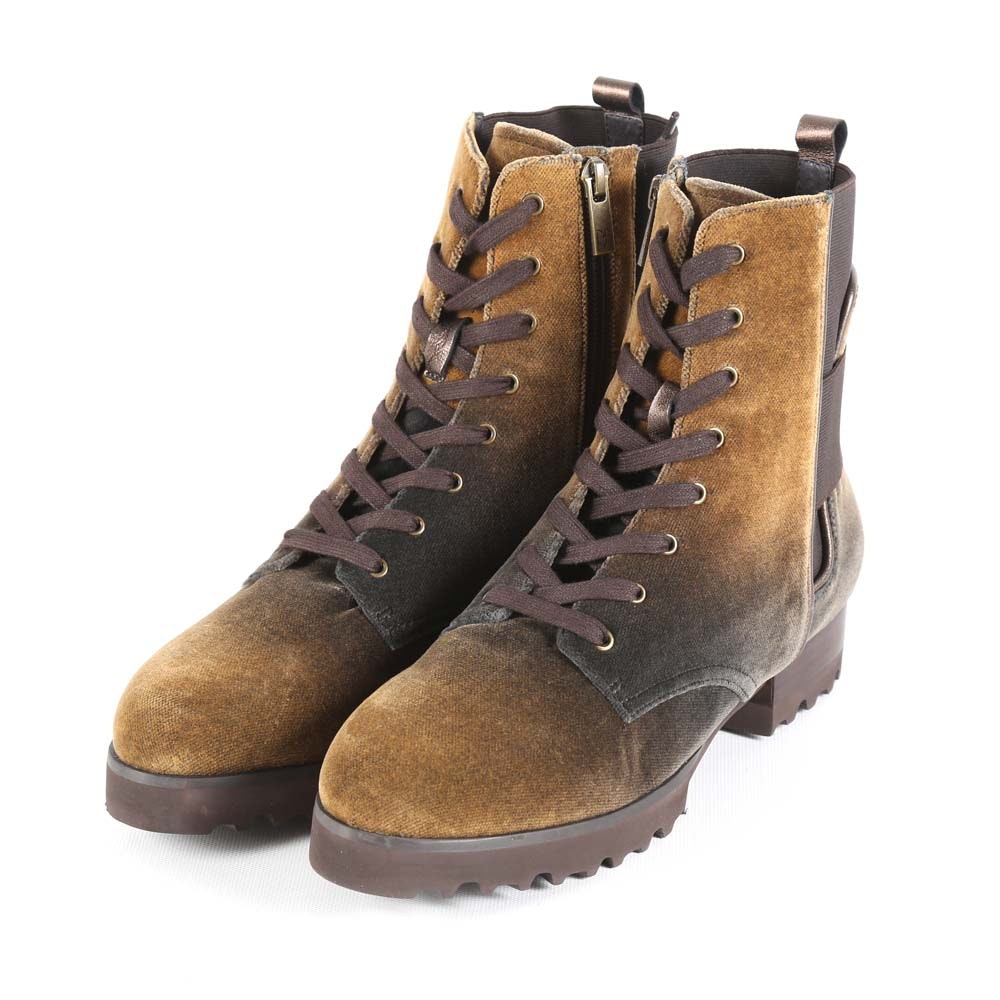 Women's Donald Pliner Esa Cocoa Degrade Velour Combat Boots