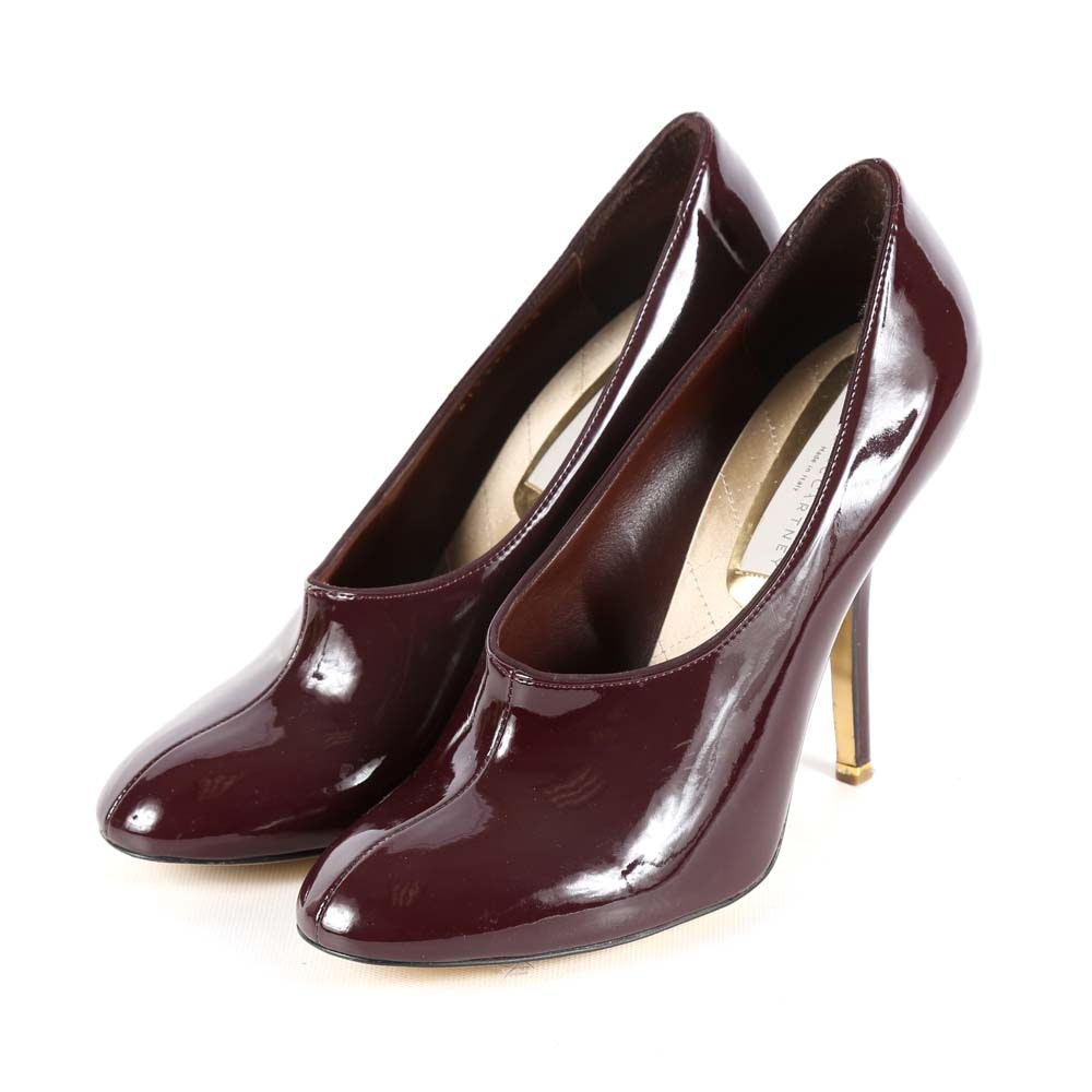 Stella McCartney Burgundy Patent Leather High Heel Pumps