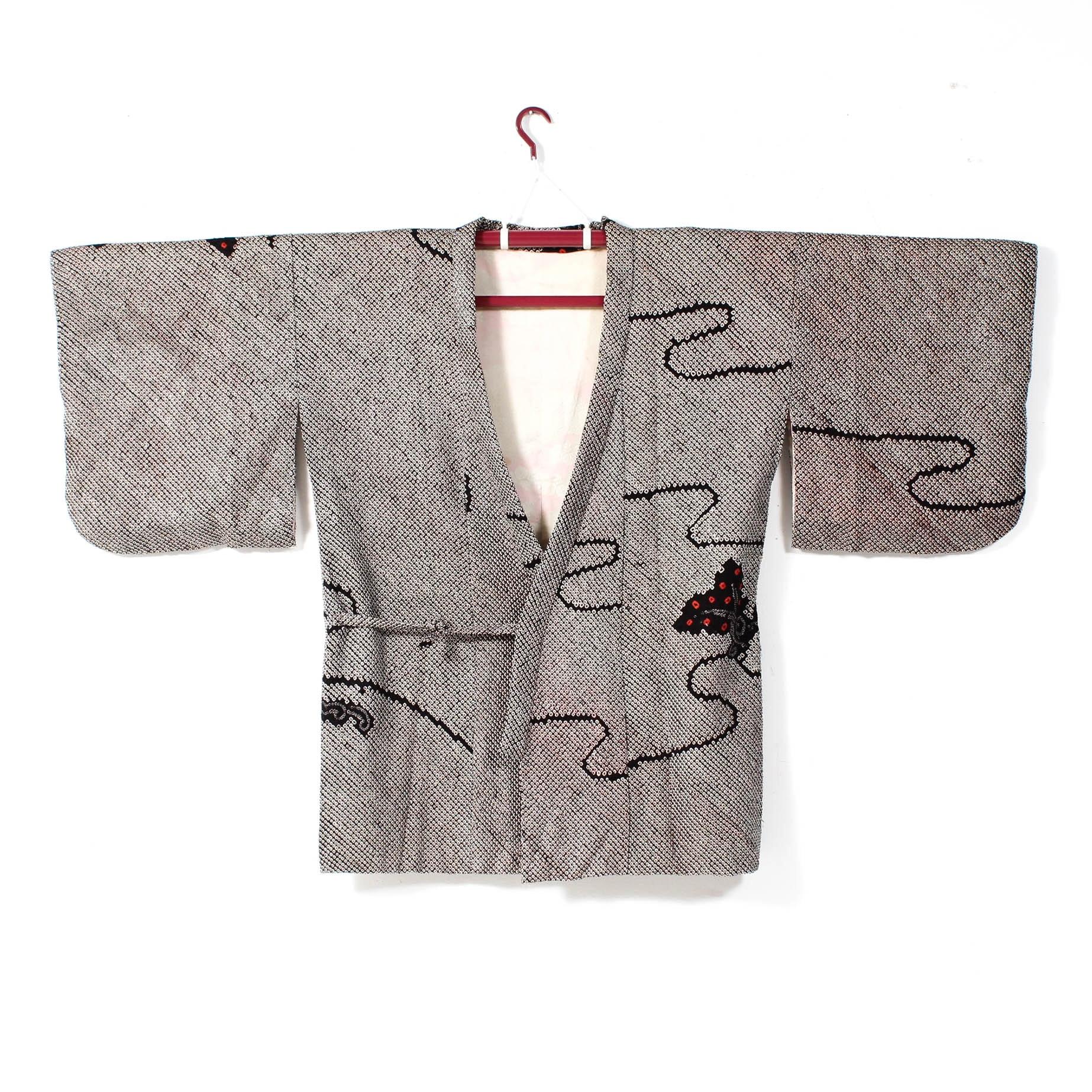 Vintage Shibori Dyed Haori Kimono Jacket