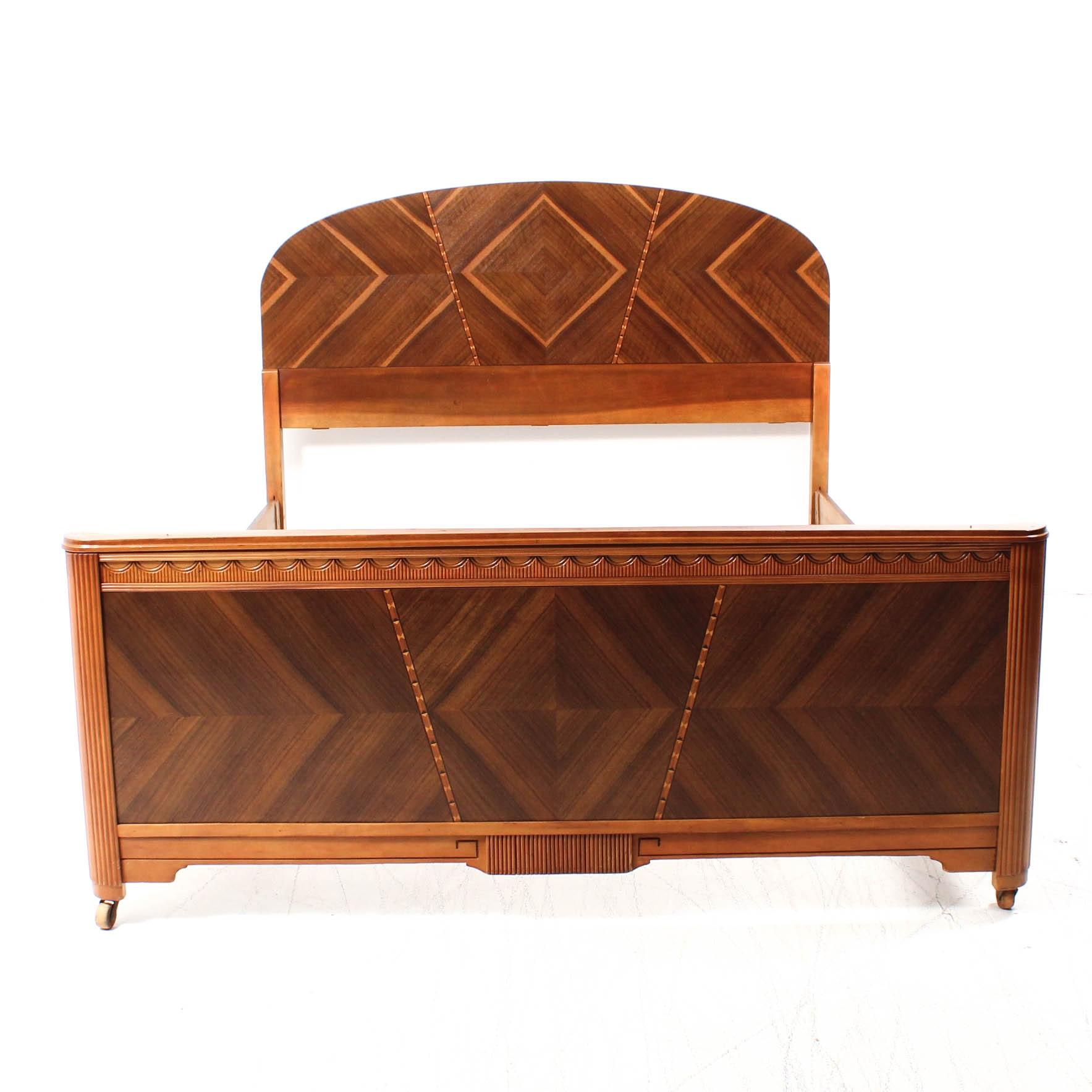 Art Deco Full Size Bed Frame