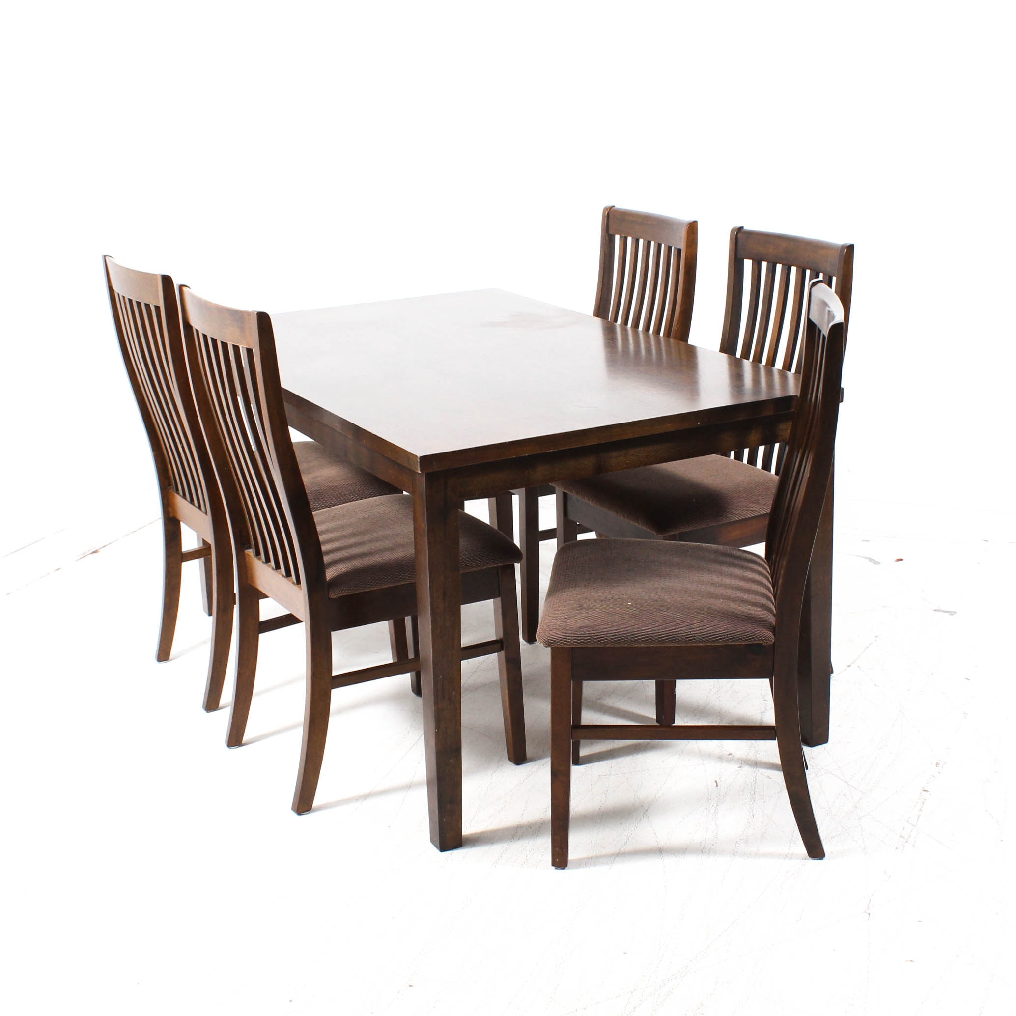 Arts and Crafts Style Dining Table and Chairs