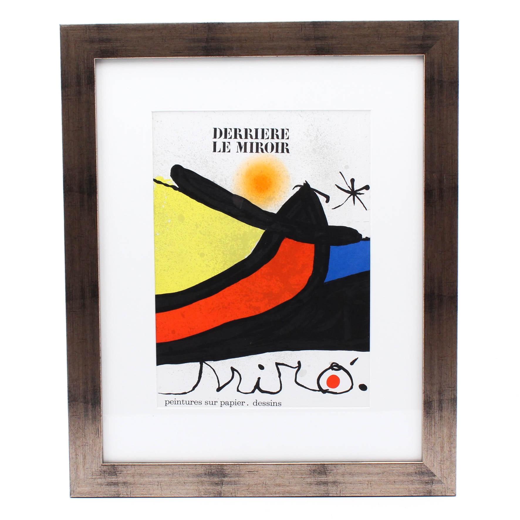 "Joan Miro Color Lithograph Cover for ""Derriere le Miroir"""