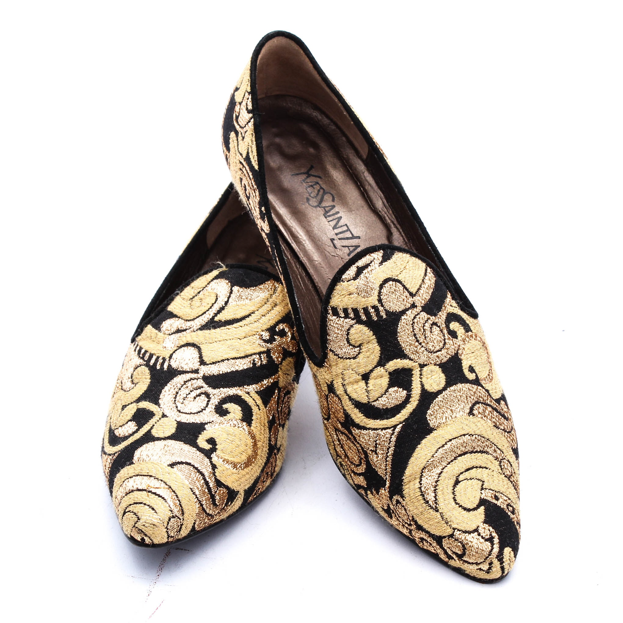 Yves Saint Laurent Adelin Imperial Brocade Loafers