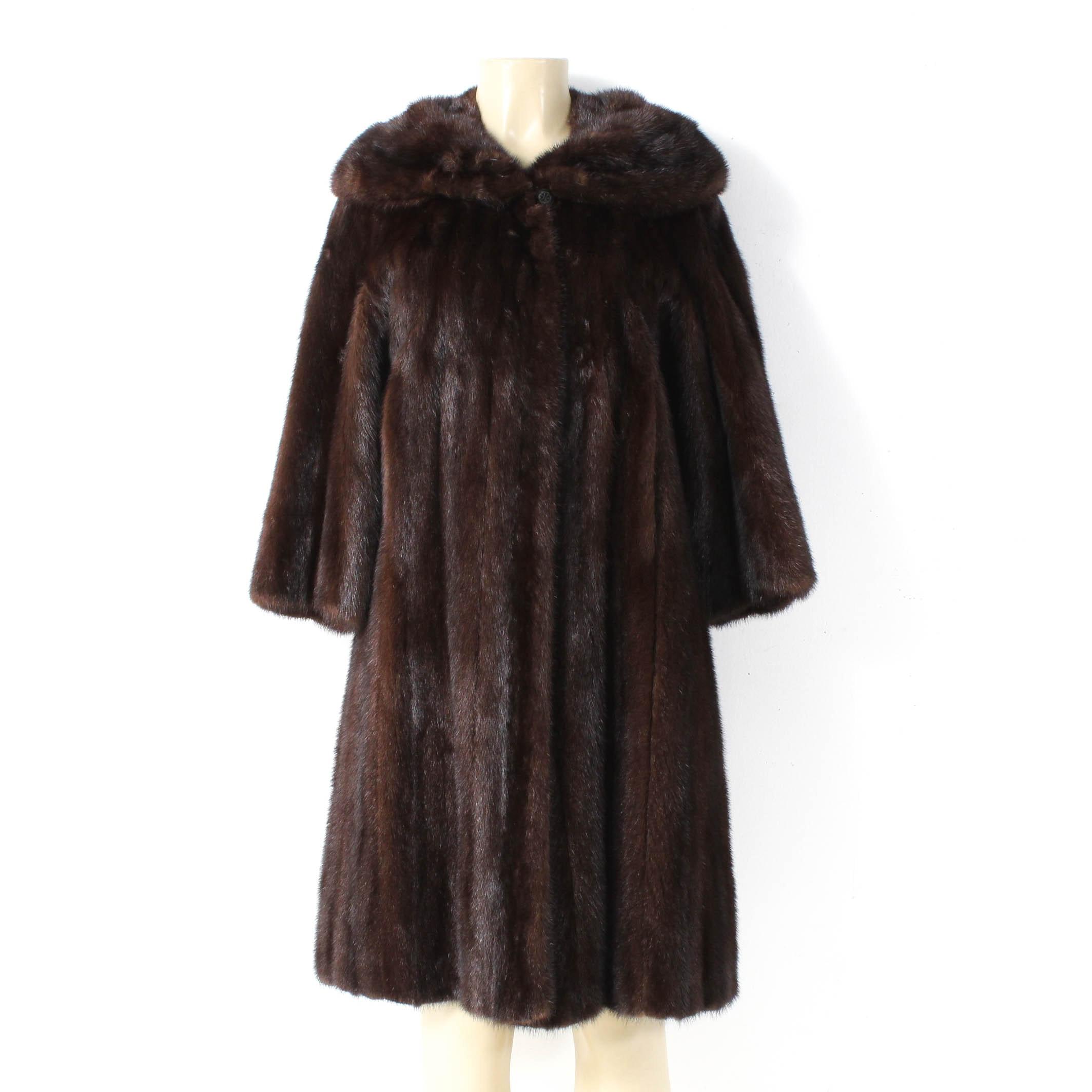 Vintage Mahogany Mink Fur Coat