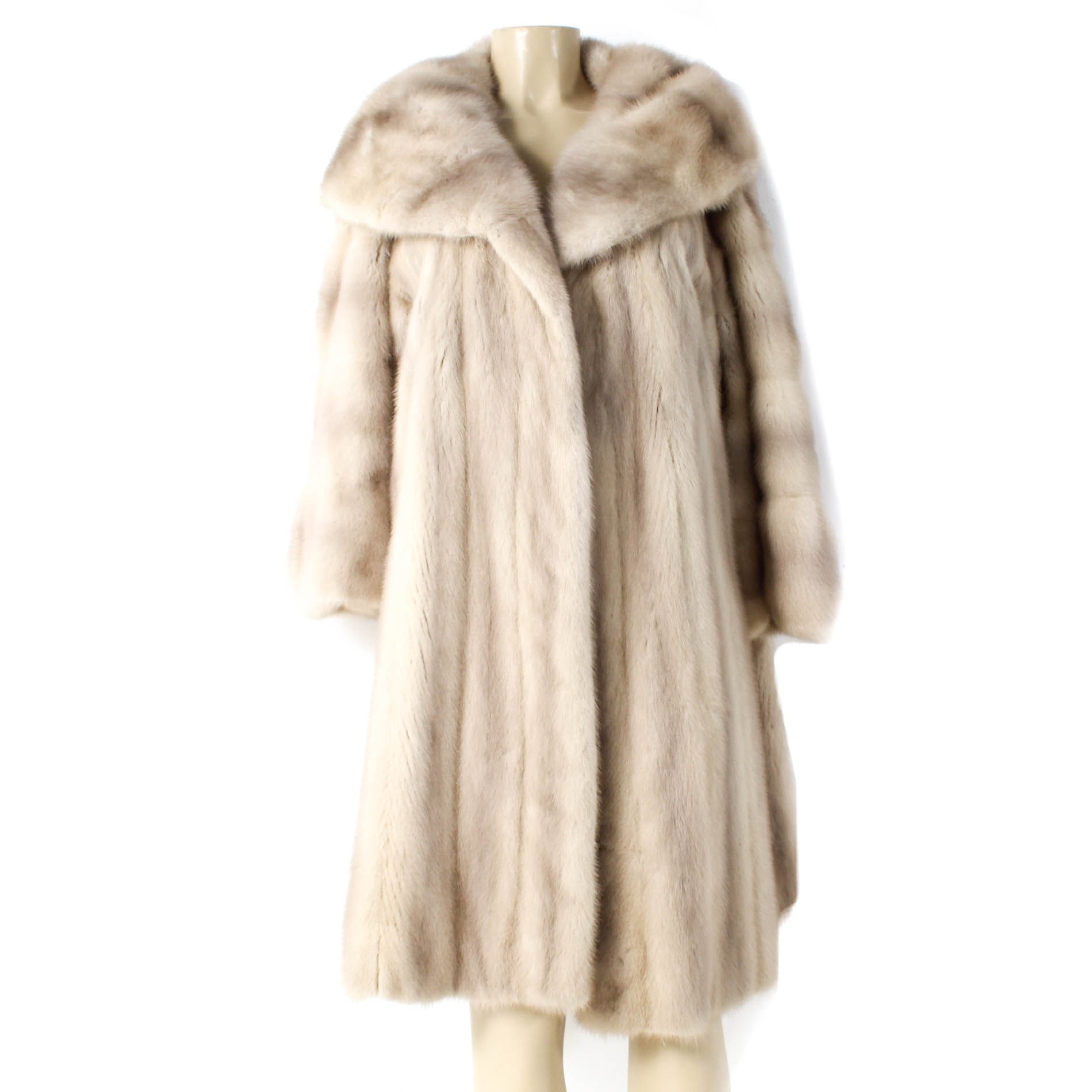 Vintage Tourmaline Mink Fur Swing Coat