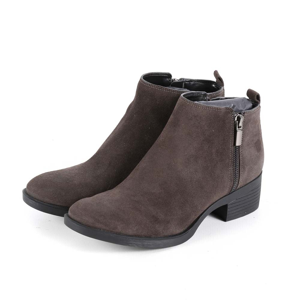 Kenneth Cole New York Levon Water and Stain Resistant Brown Suede Booties