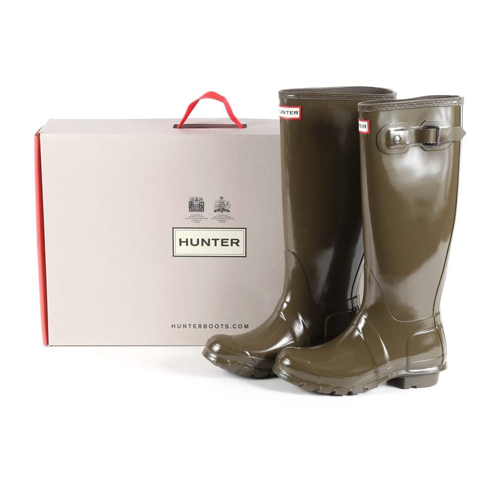 Hunter Original Tall Swamp Green Gloss Rain Boots