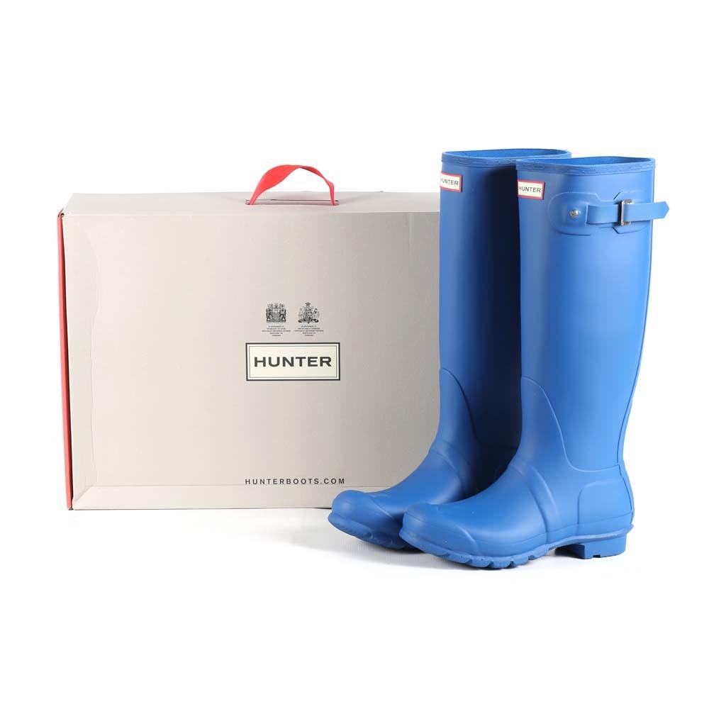 Hunter Original Tall Rain Boots in Azure Blue