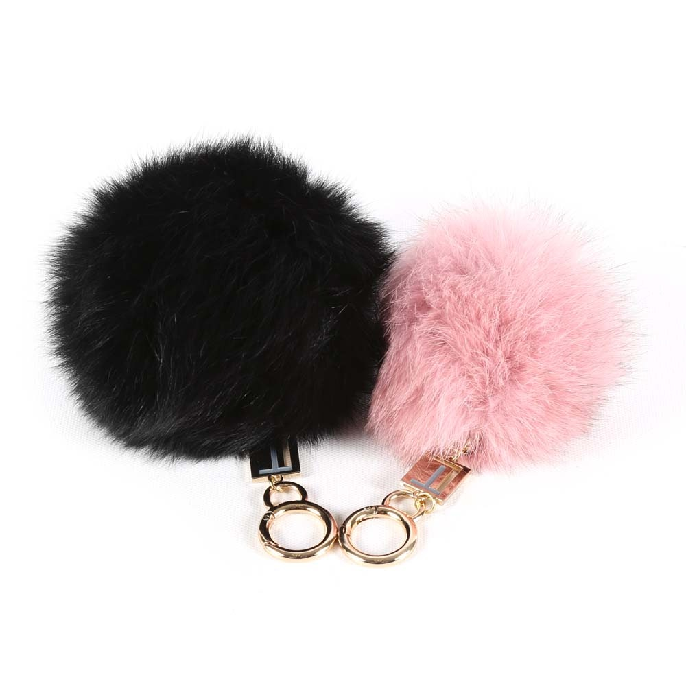 Love Token Dyed Fox Fur Key Chains