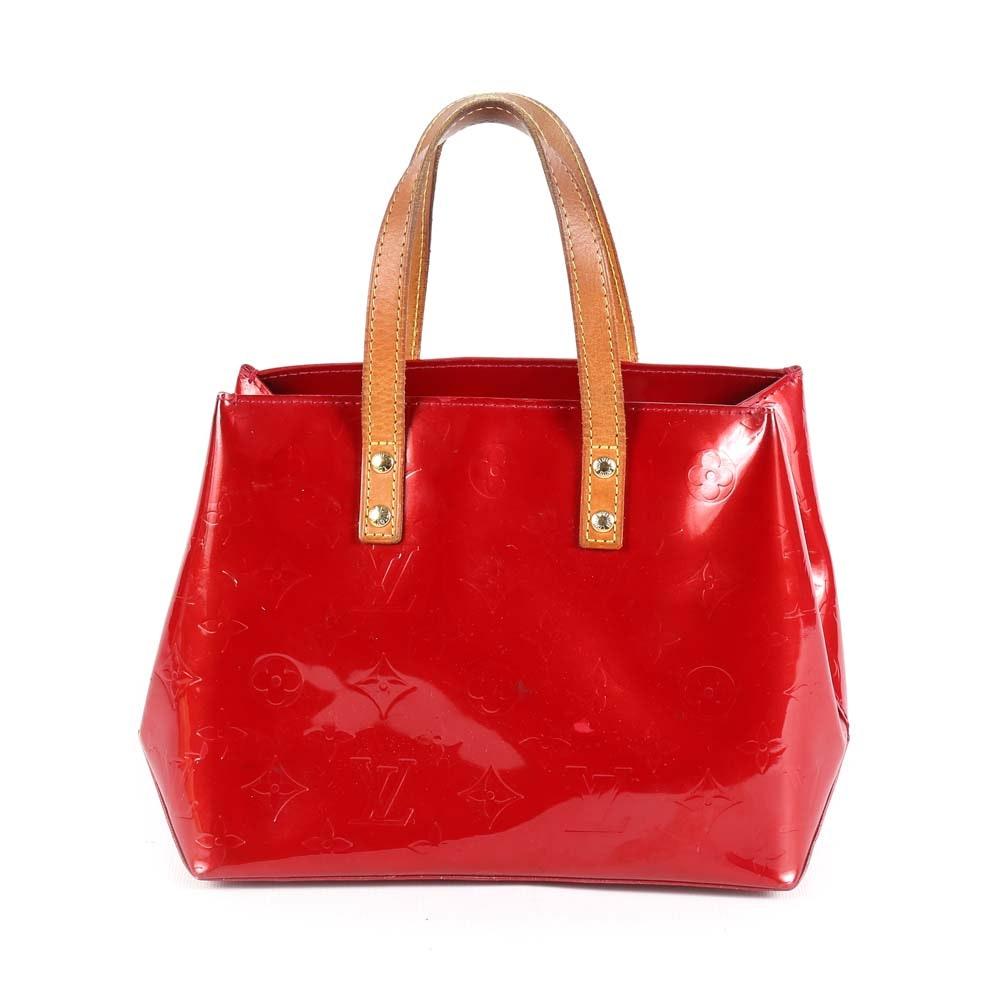 Louis Vuitton of Paris Red Monogram Vernis Reade PM Bag
