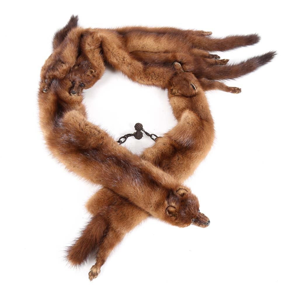 Vintage Mink Pelt Fur Stole