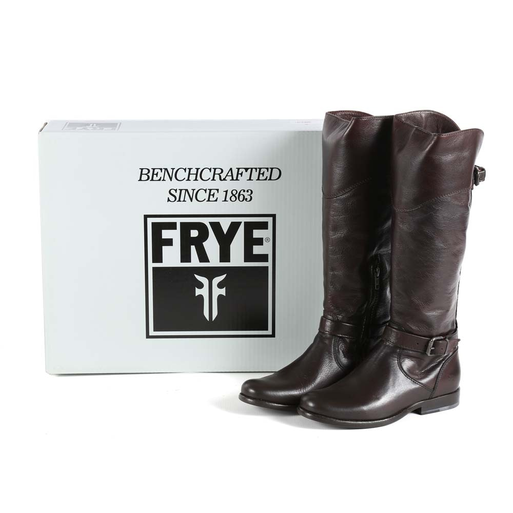 Frye Phillip Dark Brown Leather Riding Boots