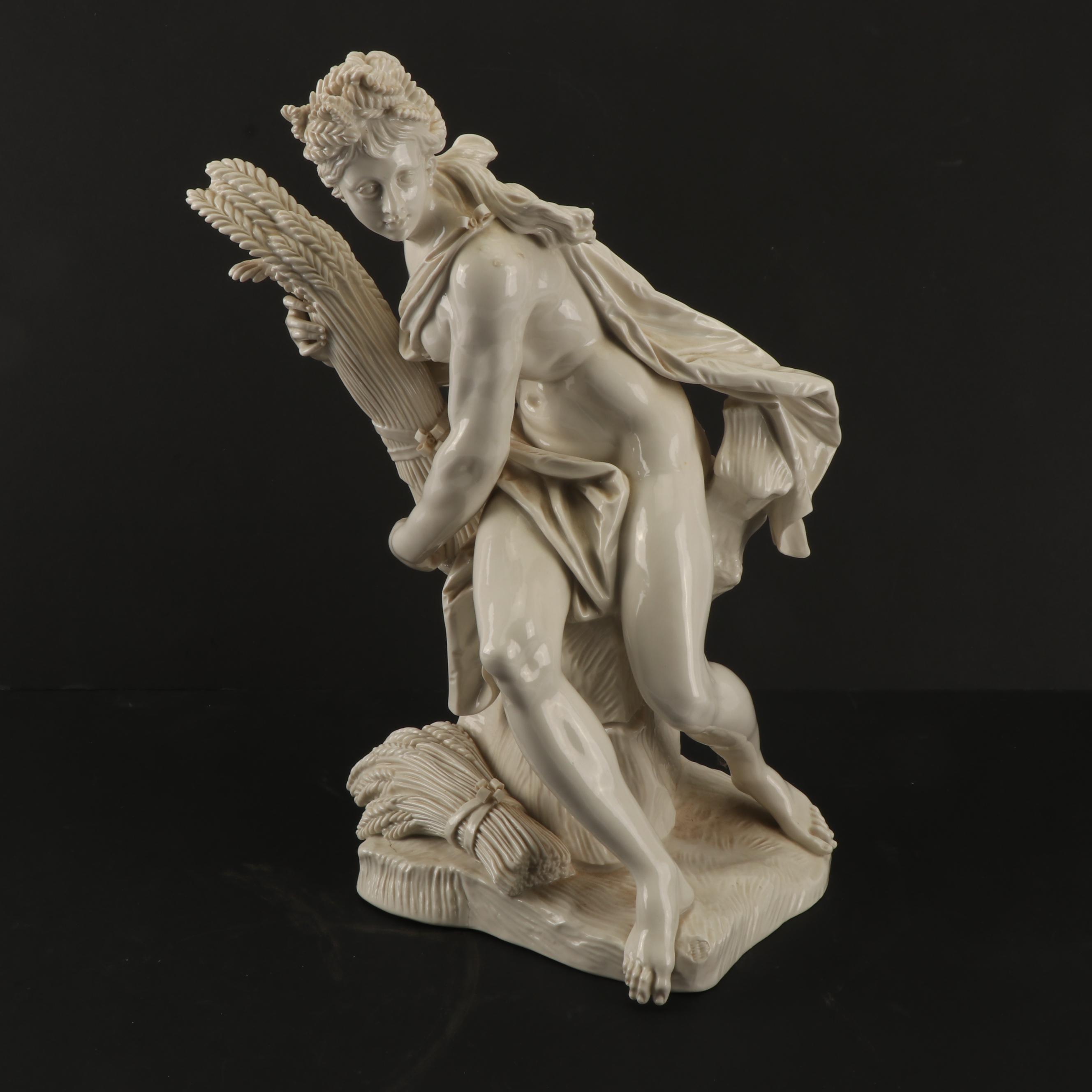 "Nymphenburg ""Ceres"" Porcelain Figurine After Dominik Auliczek, Late 19th Century"