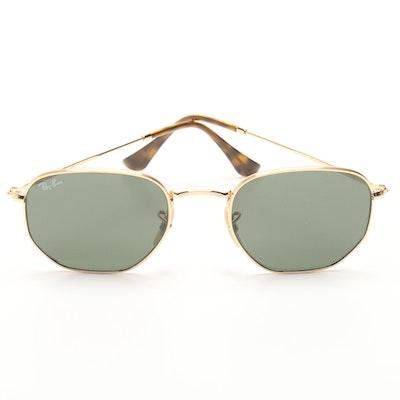 7e140bb870 Ray-Ban Hexagonal Gold Tone Sunglasses