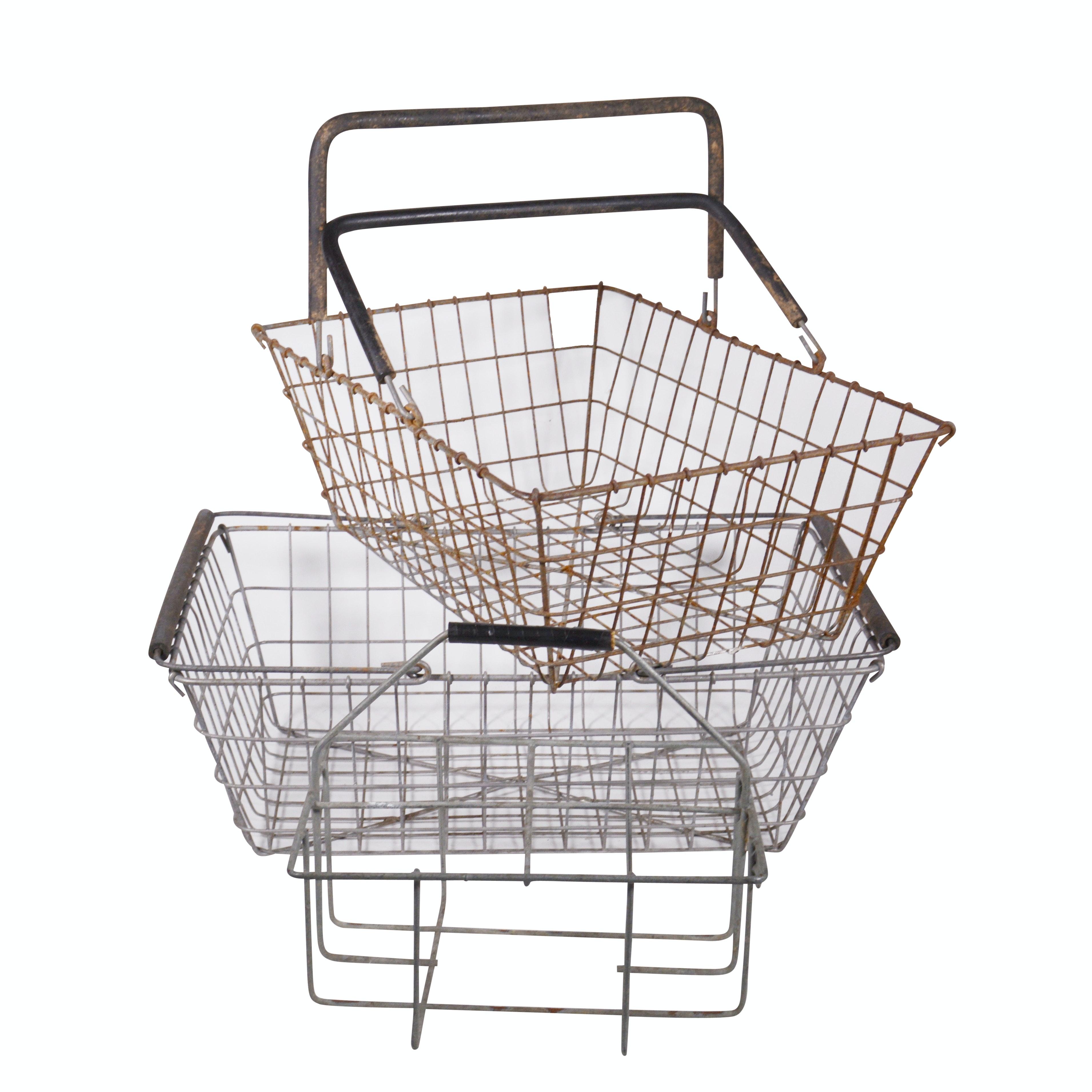 Wire Milk Carrier Basket with Wire Gathering Baskets