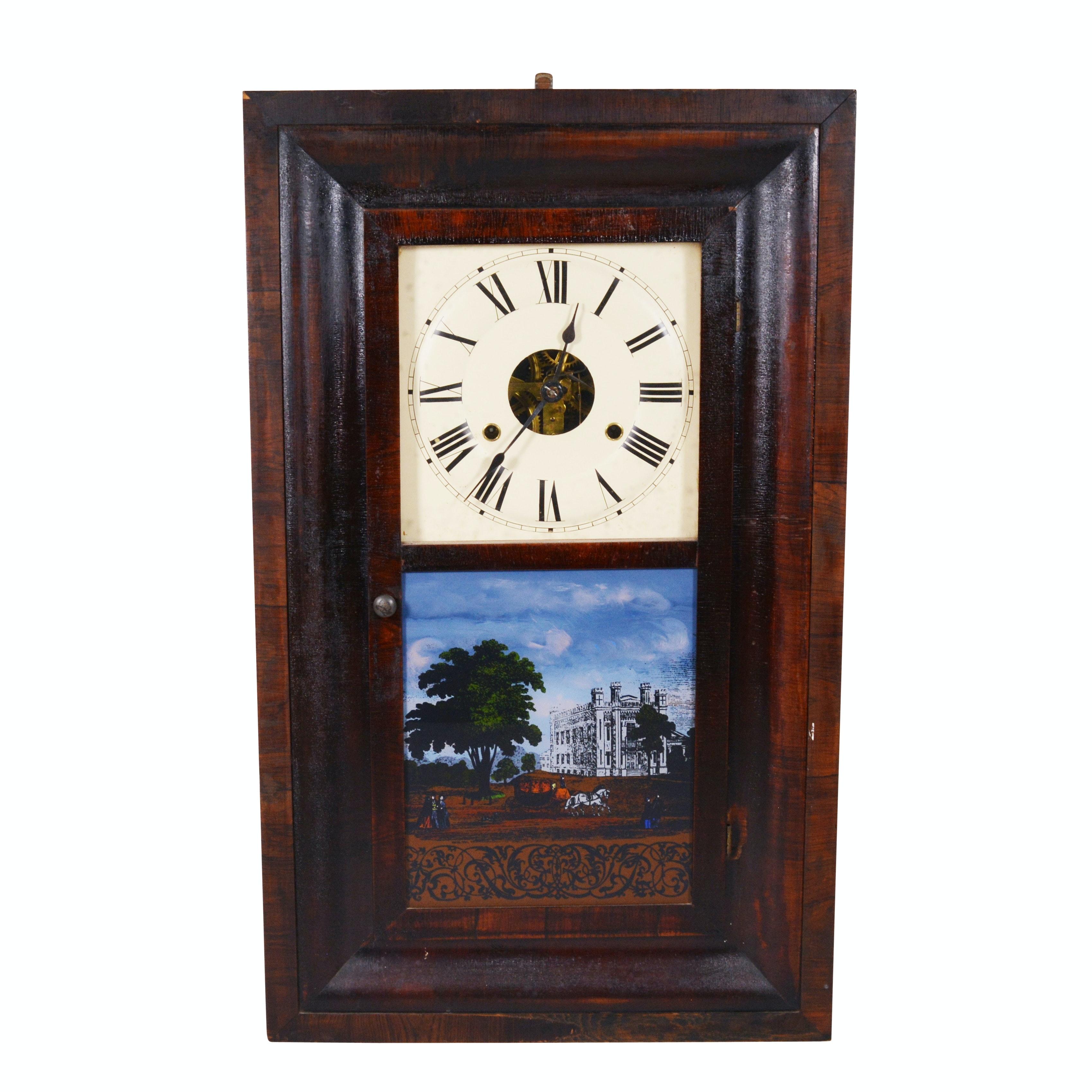 Seth Thomas Reverse Painted Ogee Wall Clock