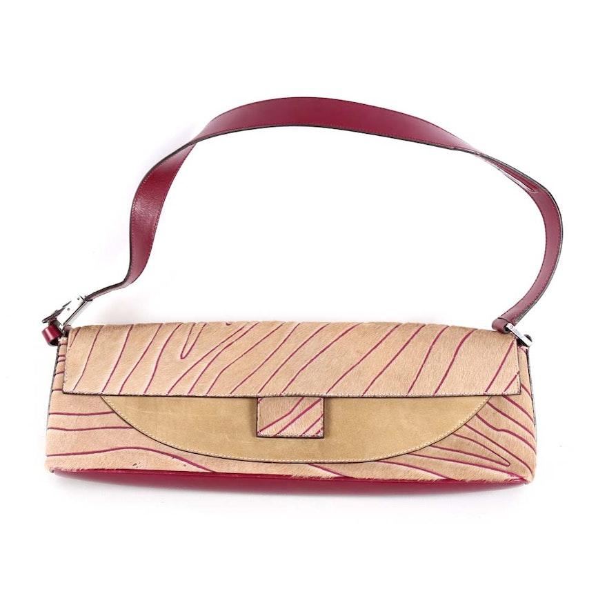 Salvatore Ferragamo Pony Hair Handbag   EBTH 2da36275ae80a