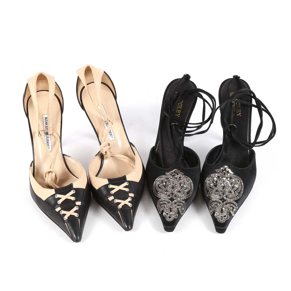 Women's Manolo Blahnik and Badgley Mischka Designer Heels