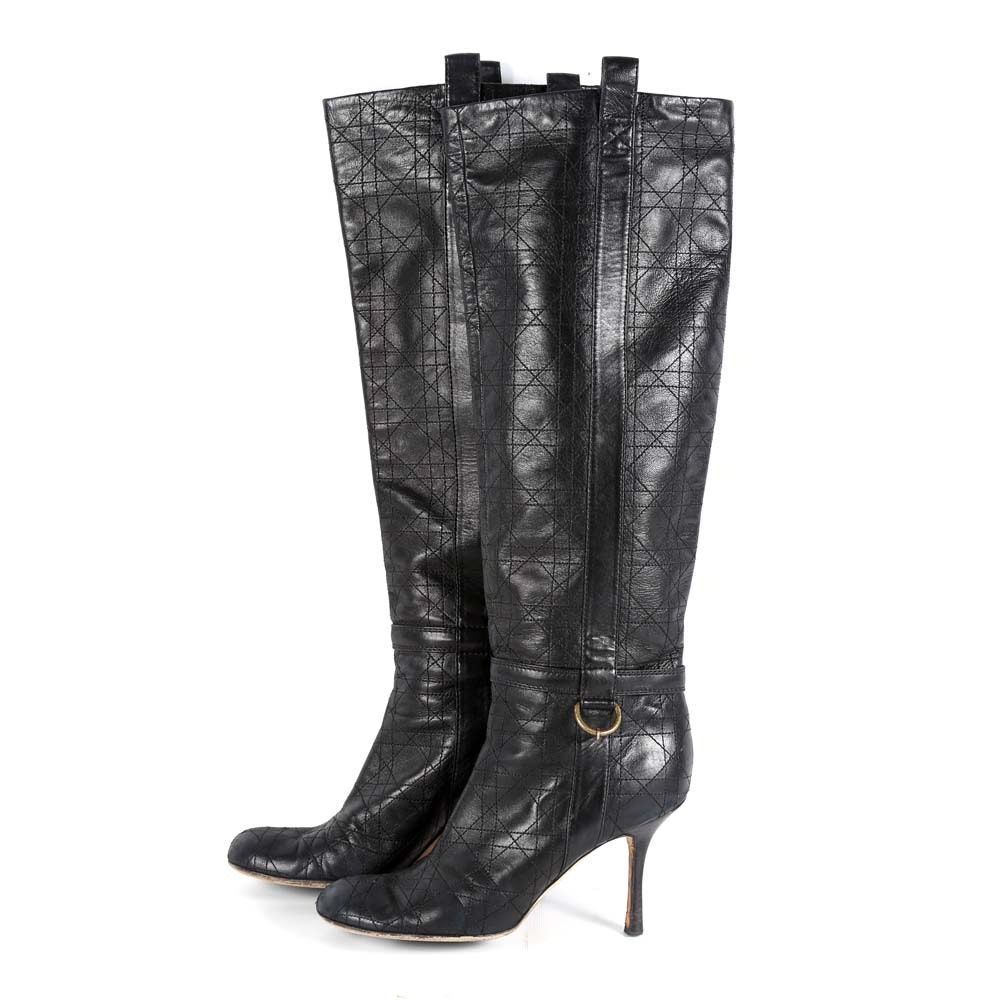 Dior Knee High Leather Boots