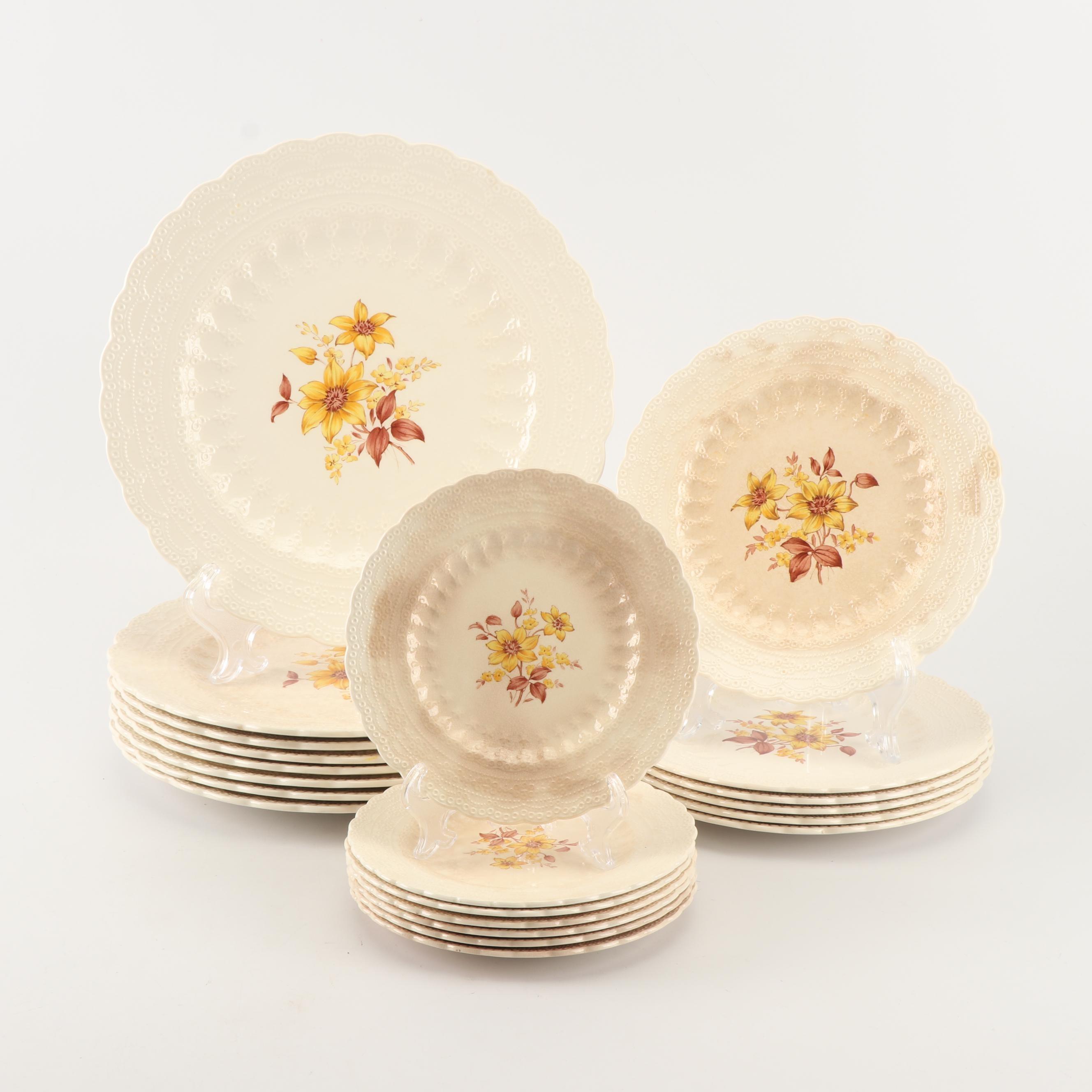 """Vintage Copeland """"Spode's Jewel"""" Hand-Embellished Dinnerware"""