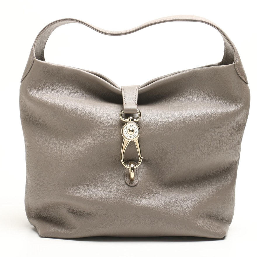9051a8c3ddbe Dooney   Bourke Belvedere Taupe Pebbled Leather Hobo Bag   EBTH