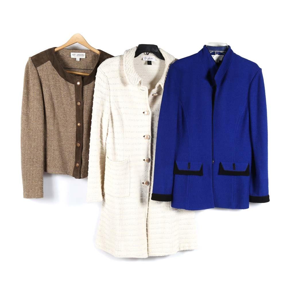 Women's St. John Collection Outerwear
