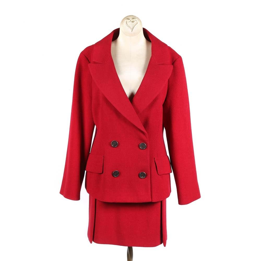 Women's Prada Red Skirt Suit